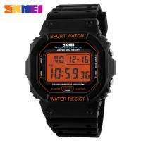 Promotion Electronic Kids Sport Watches ABS Plastic Orange Nickel Free