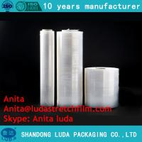 Wholesale Luda hand use LLDPE jumbo roll stretch film for pallet wrapping from china suppliers