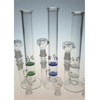 Quality 18mm 11 Inches Glass Bong Double Honeycomb Ice Pinch Perc Water Pipe for sale