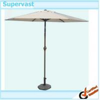 Wholesale 9' Patio Market Umbrella / 9 Foot White Canopy Crank Outdoor Umbrellas from china suppliers