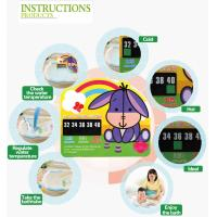 Convenient Mercury Free LCD Thermometer For Baby Bath , 72x83mm Size