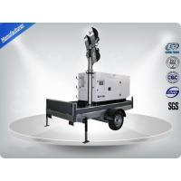 Wholesale Single Phase Generator Mobile Light Tower Trailer With Manual Operated Mast from china suppliers