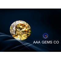 Wholesale 0.25 Carat 4 MM Yellow Moissanite Diamond For Rings , Earrings from china suppliers