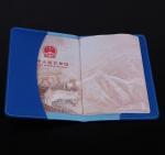 Litchi Grain PU Travel Passport Holder