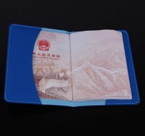 Quality Litchi Grain PU Travel Passport Holder for sale