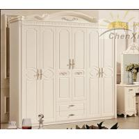 Wholesale White Solid Oak Wood Wardrobe Princess Style , 6 Door Wardrobe Bedroom Furniture from china suppliers
