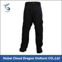 Wholesale Waterproof Black Twill Cotton Security Uniform Pants , Ems Job Work Wear Trousers from china suppliers