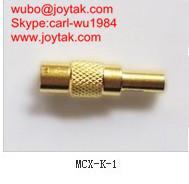 Wholesale High quality gold plated MCX jack streight crimp type coaxial adapter MCX-K-1 from china suppliers
