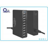 Wholesale 10 Ports Multiple USB Travel Charger , USB Charging Hub with 50W 10A Power outlet from china suppliers