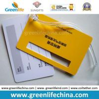 Wholesale China Promotional Two PVC Hard Cards Together Luggage Hang Tag from china suppliers