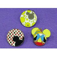 Wholesale Nickel Plating Cartoon Mouse Soft Lapel Enamel Pins , Metal Cute Enamel Pins from china suppliers