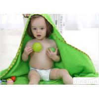 Wholesale Professional Green Color Baby Hooded Towels With Animal Hood 90*90cm from china suppliers