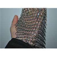 Wholesale Square Stainless Steel Chainmail Scrubber With Non-toxic , Cast Iron Cleaner from china suppliers