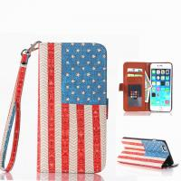 "Wholesale USA Flag Pattern Book Flip Leather Case With Credit Card Slot For Iphone 6 Plus(5.5"") from china suppliers"