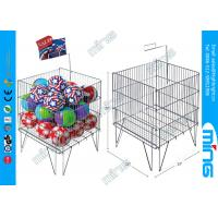 Wholesale Foldable Promotion Wire Dump Bins , Floor Standing Wire Mesh Bins from china suppliers