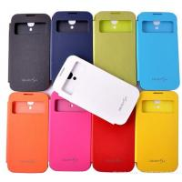 Wholesale Samsung S4 i9500 leather flip case , Removable back cover from china suppliers