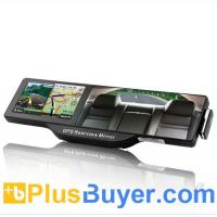 Wholesale 5 Inches HD Touchscreen GPS Rearview Mirror with Bluetooth from china suppliers
