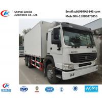 Wholesale Bottom price SINO TRUK HOWO 6*4 LHD/RHD 336hp diesel refrigerated truck for sale, factory sale best price China-made 20t from china suppliers
