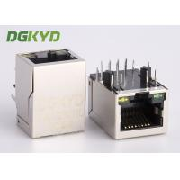 Wholesale RJ45 single port Jack with 10/100BASE transformer integrated ethernet connector from china suppliers
