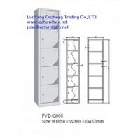 Wholesale Five door steel locker FYD-G005,H1850XW380XD450mm with hinging and vent hole from china suppliers