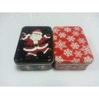 Quality Holiday Cookie Metal Tin Container , Food Storage Tinplate Boxes for sale