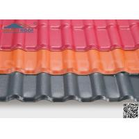 Wholesale Hard Plastic Sheets Synthetic Resin Roof Tile With 0.23MM ASA Embossed Coating from china suppliers