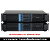 Quality Concert Sound Equipment / 4 Channel 4x1300W Switching Amplifier FP 10000Q With Actual Copper Heat Sink for sale
