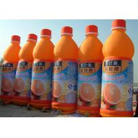 Wholesale Orange Juice Bottle Inflatable Advertising Products With Full Printing Customized from china suppliers