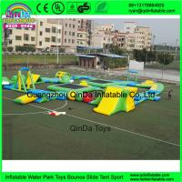 Wholesale Custom design outdoor adults giant inflatable floating water park for open water entertainment from Guangzhou from china suppliers