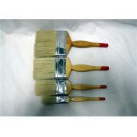 Wholesale White Bristle Flat Paint Brush With Fesiform Wooden Handle , Paint Brushes For Walls from china suppliers