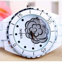 Wholesale Ceramic Quartz Analog Metal Digital Watch Water-resistance , Flower Design from china suppliers