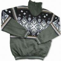 Wholesale Men's Outdoor Sweaters, Available in Various Sizes, Made of 100% Acrylic from china suppliers