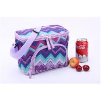 Wholesale Purple Wave Print Insulated Promotional Small Lunch Bags Measured 24.5 * 14 * 16cm from china suppliers