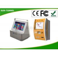 Wholesale 7 Inch Touch Screen Bank ATM Machine , Card Reader Wall Mounted Kiosk Self Payment from china suppliers