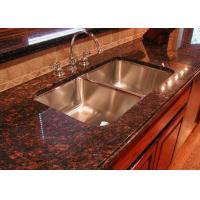 Wholesale Modern Brown Granite Slab Countertops Kitchen Cabinet Full Bullnose Edging from china suppliers