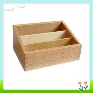 Wholesale Montessori Materials - Three-segment Wooden Box from china suppliers
