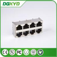 Quality Vertical Rj45 Jack 2X4 Top Entry E6588-A59124-L Rj45 Connector With Magnetics for sale