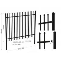 Wholesale Australia standard black garrison spear tubular steel garrison fence 2100mm*2400mm from china suppliers