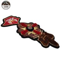 China Size Customized 3D Embroidery Patches Toothbrush Material With Sew On /  Iron On Backing on sale