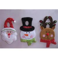 Wholesale art decor door hanger stick plush Santa snowman for christmas decoration from china suppliers