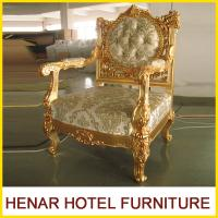 Buy cheap Luxury Commercial Hotel Golden Wood King Throne Chair for Lobby European Style from wholesalers
