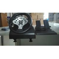 Quality video game steering wheel racing wheel with foot pedal for PC PC360 PS2 PS3 for sale