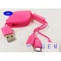 Quality Double Side Retractable 3 In 1 Extension USB Cable With Micro USB Cable for sale