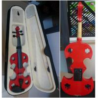 Quality Red Adult Full Size Solid Basswood Electric Violins With Ebonized Fingerboard for sale
