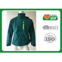 Wholesale Outdoor Sport Warm Up Multi Function Jacket For Camping / Hiking Green Blue Color from china suppliers