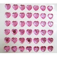 Wholesale loose rhinestone sticker single pink heart sticker for mobile phone decor from china suppliers