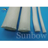 Quality High temperature 400- 600 degree uncoated fiberglass tube cable sleeving for sale