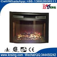 "Quality 26"" insert electric fireplace heater curved front log LED flame effect WF2613L remote control built-in electric stove for sale"