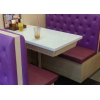 China High back long Double sided button tufted leatherBooth Seating for restaurants on sale