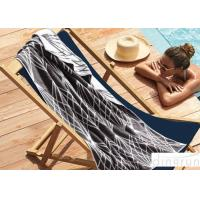 Wholesale Soft Touch Custom Printed Beach Towels For Adults , Summer 100 Cotton Beach Towels 70x140cm from china suppliers